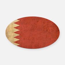 Vintage2Bahrain1 Oval Car Magnet