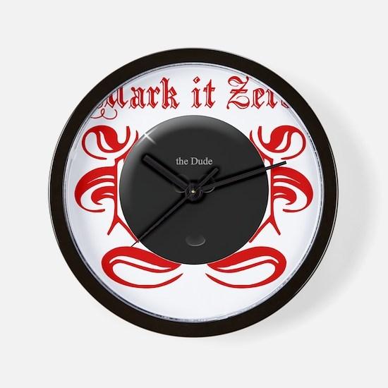 MarkIt_Red Wall Clock