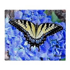 Eastern Yellow Tiger Swallowtail But Throw Blanket