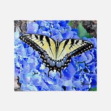 Eastern Yellow Tiger Swallowtail But Throw Blanket