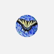 Eastern Yellow Tiger Swallowtail Butte Mini Button