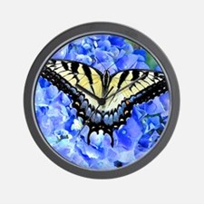 Eastern Yellow Tiger Swallowtail Butter Wall Clock