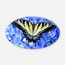 Eastern Yellow Tiger Swallowtail B Oval Car Magnet