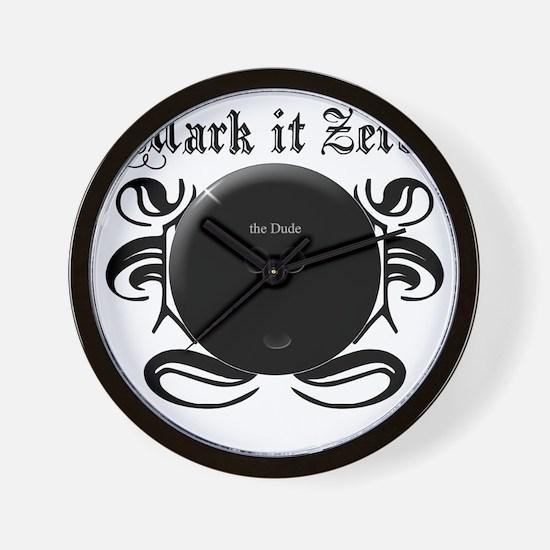 MarkIt_Black Wall Clock