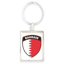 BlackShieldBahrain1 Portrait Keychain