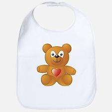 Teddy Heart Bib