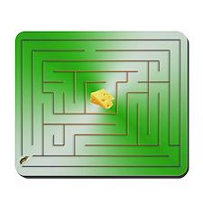 Mouse Maze Mousepad - Green