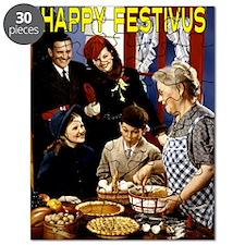family_arriving_festivus_card Puzzle