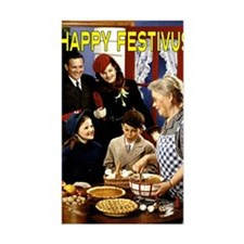 family_arriving_festivus_card Decal