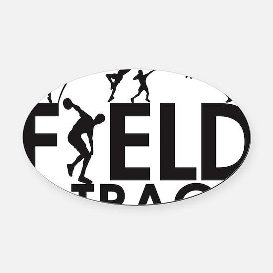 FieldandTrack Oval Car Magnet