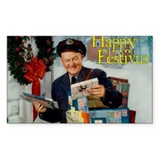postman_festivus_card Decal