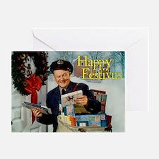postman_festivus_card Greeting Card