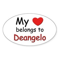 My heart belongs to deangelo Oval Decal