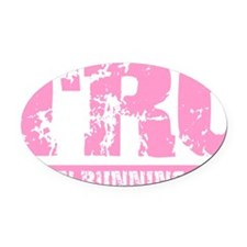 trc_pink Oval Car Magnet