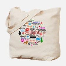 Twilight Mem Btn Tote Bag