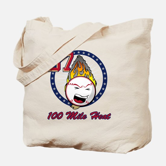 flaming_baseball_k Tote Bag