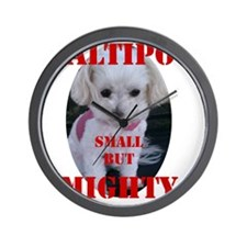 maltipoo_small_but_mighty copy Wall Clock