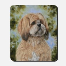 Lhasa Apso by Dawn Secord Mousepad