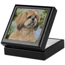 Lhasa Apso by Dawn Secord Keepsake Box