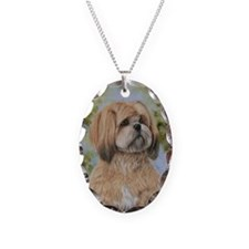 Lhasa Apso by Dawn Secord Necklace