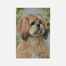 Lhasa Apso by Dawn Secord Rectangle Magnet