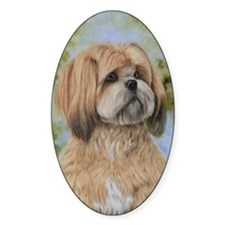 Lhasa Apso by Dawn Secord Decal