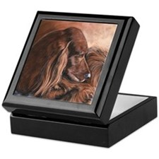 Irish Setter Sleeping Keepsake Box