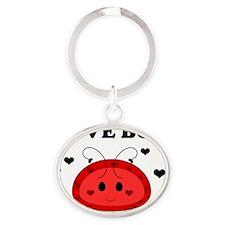 4-LoveBugKidsClothes Oval Keychain