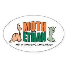 Moth & Ethan Oval Decal