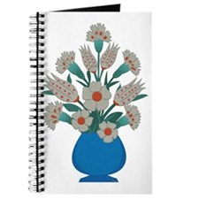 Turkish Bouquet-grayscale fabric Journal