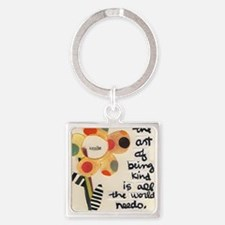 The Art of Kindness Square Keychain
