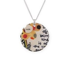 The Art of Kindness Necklace Circle Charm