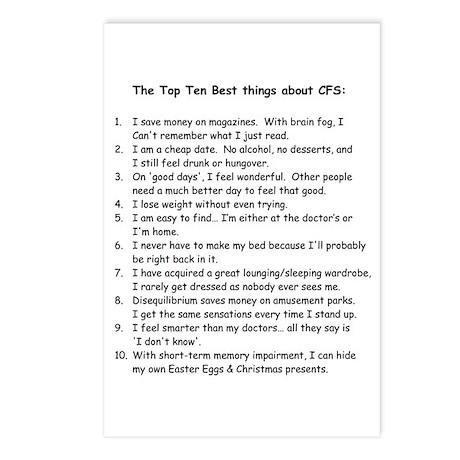 Top Ten for CFS Postcards (Package of 8)