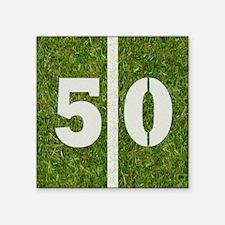 """50th bday 6x6 Square Sticker 3"""" x 3"""""""
