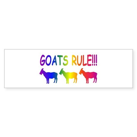 Goats Rule Sticker (Bumper)