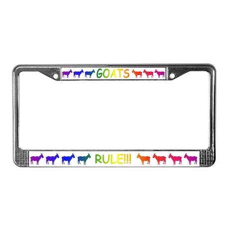 Goats Rule License Plate Frame