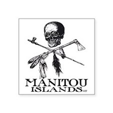 "ManitouIslands-JollyPsenka Square Sticker 3"" x 3"""