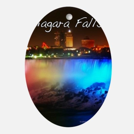 Niagara Falls Oval Ornament