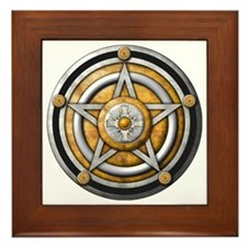 Silver Pentacle with gold Framed Tile