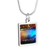 Niagara Falls Silver Square Necklace