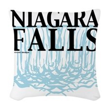 Niagra Falls Woven Throw Pillow