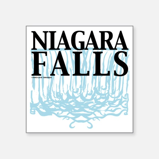 "Niagra Falls Square Sticker 3"" x 3"""