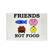 Friends Not Food Rectangle Magnet