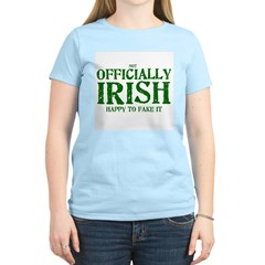 Officially Irish Women's Pink T-Shirt