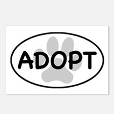 adopt paw-1 Postcards (Package of 8)