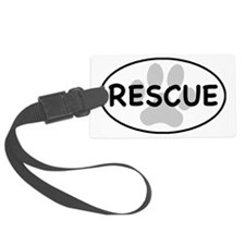 rescue paw-1 Luggage Tag
