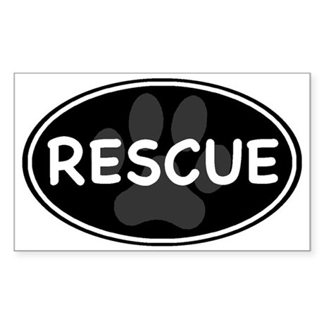 rescue paw-2 Sticker (Rectangle)
