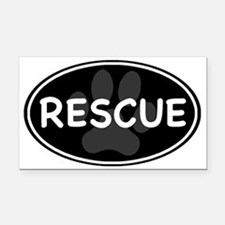 rescue paw-2 Rectangle Car Magnet