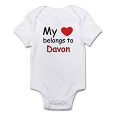 My heart belongs to davon Infant Bodysuit