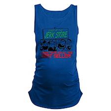 new_jerk_store_sign_crowd Maternity Tank Top